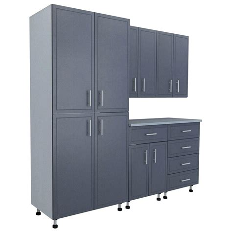 garage storage cabinet system mega closetmaid 80 5 in x 84 in x 21 in progarage basic storage systems in gray 6 27440