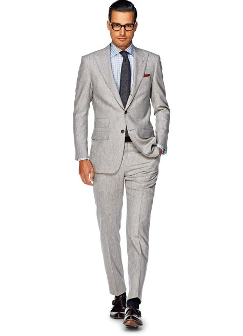 Light Grey Suits by Suit Light Grey Plain Washington P3424 Suitsupply