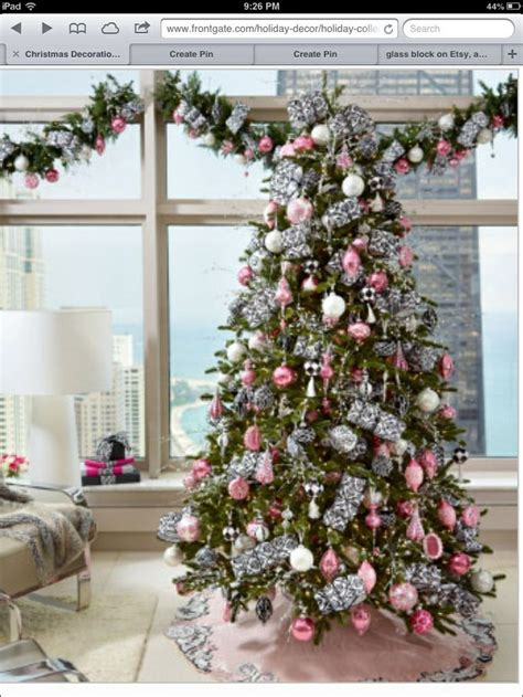 pink and silver christmas tree christmas pinterest