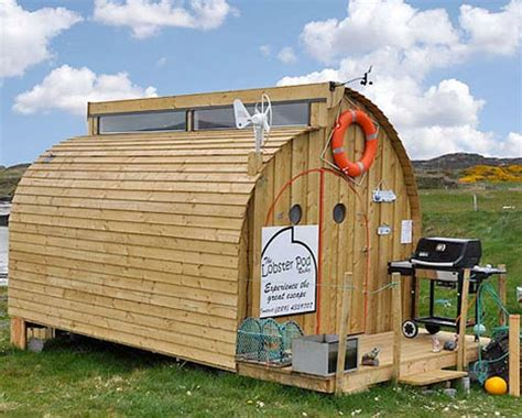 low cost tiny homes the lobster pod unusual low cost tiny house webecoist