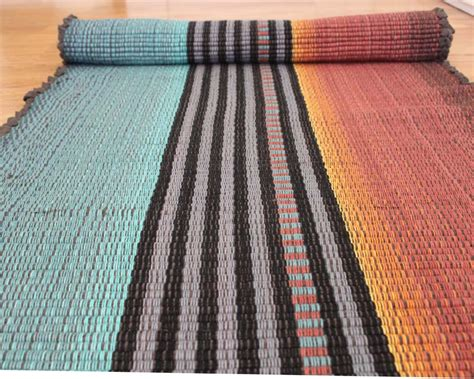 Cotton Rag Area Rugs Cotton Rag Rug Runner Teal And Rust Throw Rug 2 X 6 For