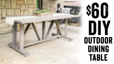 60 outdoor dining table diy 60 outdoor dining table