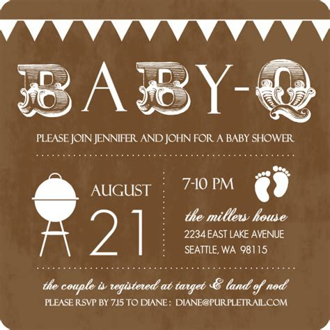 free baby q invitations templates baby shower invitations free baby q shower invitations