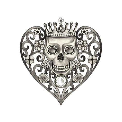 skull heart tattoo walk the culture road with powerful mexican