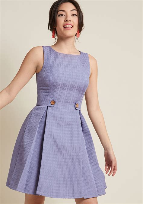 Dress Model A Line so sixties a line dress in violet modcloth