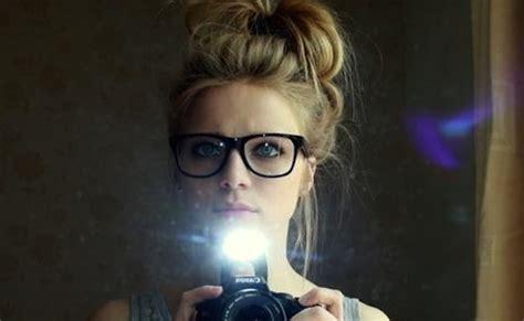 beautiful girl with glasses green eyes mac heat