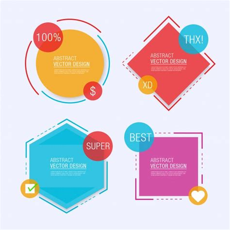 label design templates vector four geometrical label templates vector free download