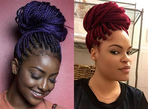 twist hairstyles for thin edges before and after box braid updo hairstyles braids bun you will swear with