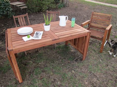 Drop Leaf Outdoor Table New Patio Furniture The Borrowed Abodethe Borrowed Abode