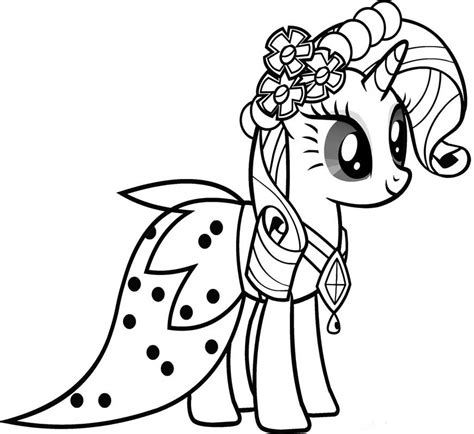 free coloring pages of rarity equestria girl
