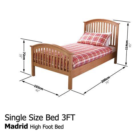 3ft X 4ft Frame by Madrid Solid Wooden Bedstead High Foot Bed Frame 3ft 4ft
