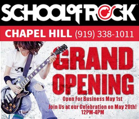 school of rock chapel hill grand opening chapelboro com
