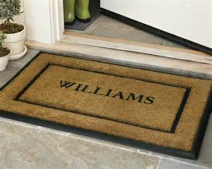 personalized doormats personalized rubber and coir picture frame doormats