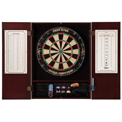 Viper Dartboard Cabinet viper 174 metropolitan steel tip dartboard cabinet 218227
