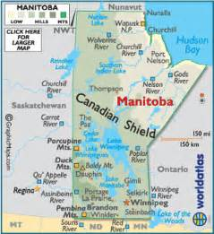 manitoba canada map geography of manitoba world atlas