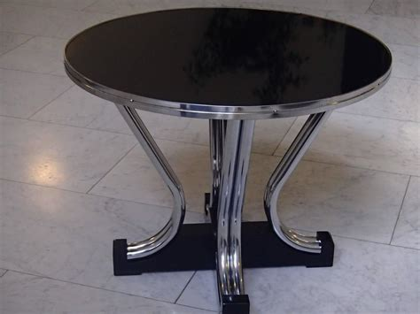 bauhaus coffee table chrome and black for sale at
