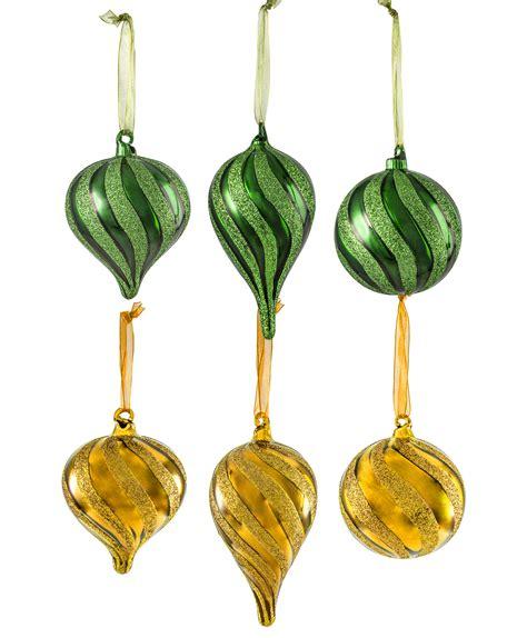 gold glass ornaments green gold glitter glass ornament set tree classics