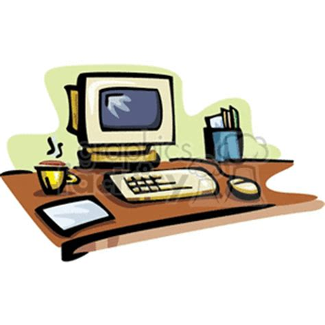 Office Computer Clipart 62 Office Desk Clipart