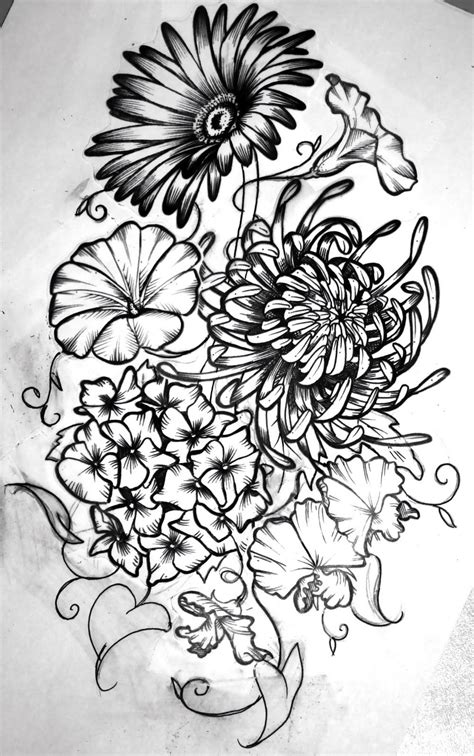 birth flowers tattoos designs birth month flowers combined ideas