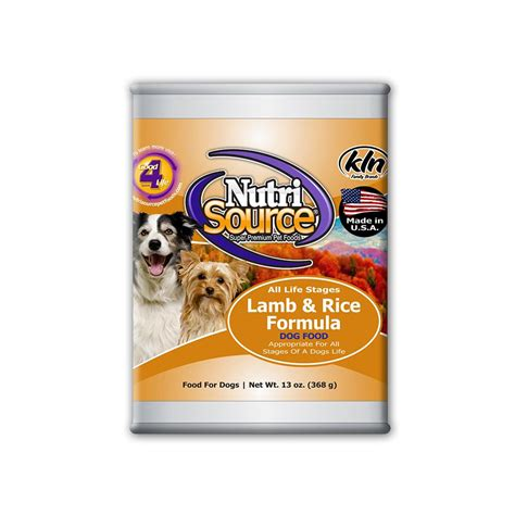 can dogs rice nutrisource and rice food single 13oz can food at arcata pet supplies
