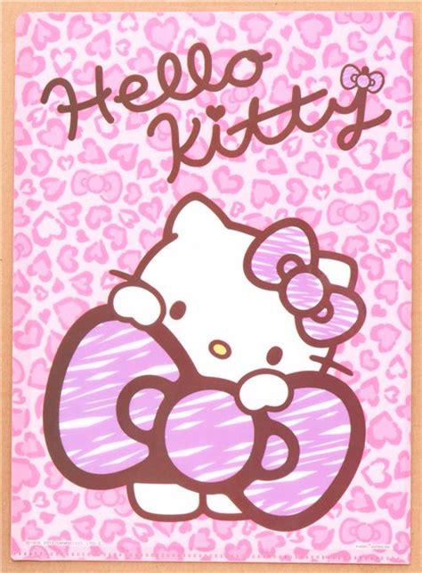 imagenes de hello kitty en animal print hello kitty bow leopard print 5 pocket a4 file folder