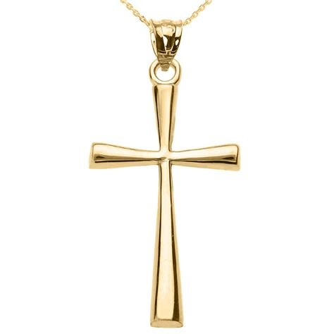 cross pendants for jewelry solid yellow gold cross pendant necklace ebay
