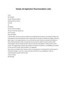 Reference Letter For Application Application Recommendation Letter Hashdoc