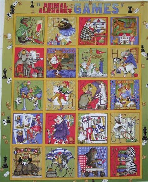 Alphabet Quilt Fabric animal alpha 21000 s quilt quilting fabric panel alphabet j wecker frisch ebay