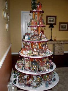 christmas village tree display pattern dept 56 lemax holiday village house display snowbabies