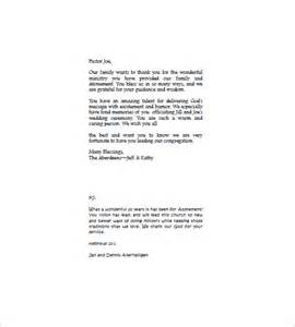 thank you letter to a pastor for funeral services funeral thank you note 8 free word excel pdf format