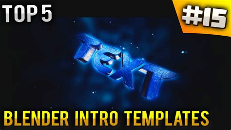 best templates for blender top 5 blender intro templates 15 free download youtube
