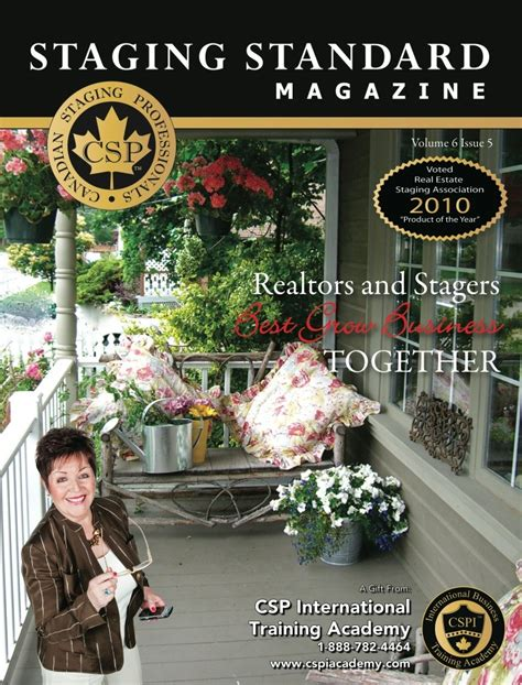 home staging magazine designs featured on cover of canadian staging