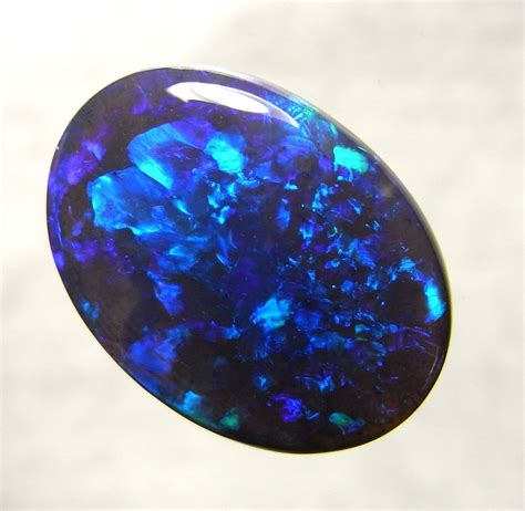black opel australian opal lightning ridge black opal solid polished