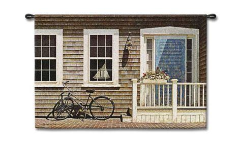 quaint town countryside view tapestry wall hanging h50 quot x w70 quot wall tapestries with country scenes