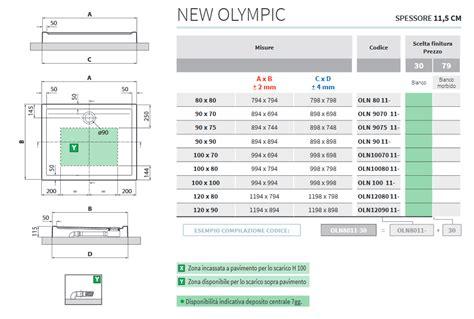 piatto doccia 60 x 70 piatto doccia 90 x 70 new olympic novellini h 4 5