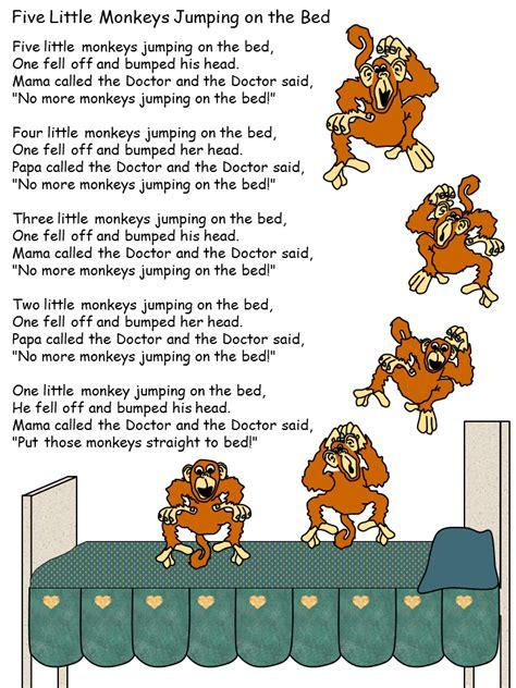 5 little monkeys jumping on the bed nursery rhyme nuestra nave tic five little monkeys