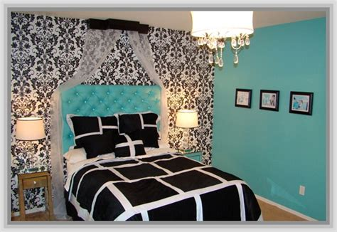 Bedroom Ideas Black And White And Blue Luxury Bedroom With Black White Blue Bedding