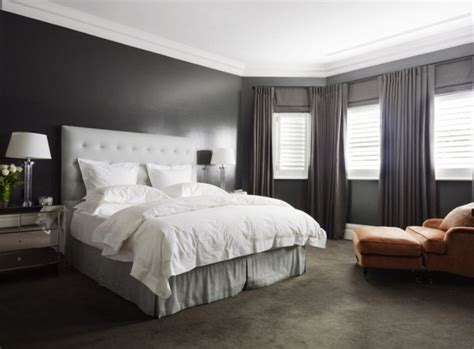 dark walls bedroom awesome large master bedroom with grey headboard grey rug