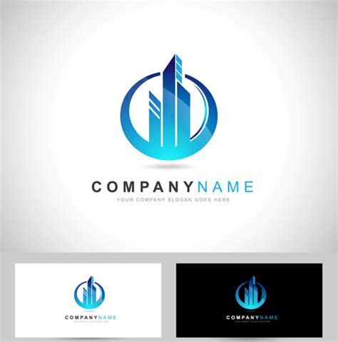 Business Card Logos Free original design logos with business cards vector free