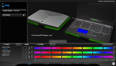 alienware keyboard themes download rainbow by alex alienware 17 fx theme alienware fx themes
