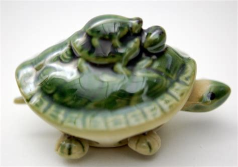 bobblehead turtle ceramic bobble turtle nodding articulated figurine ebay