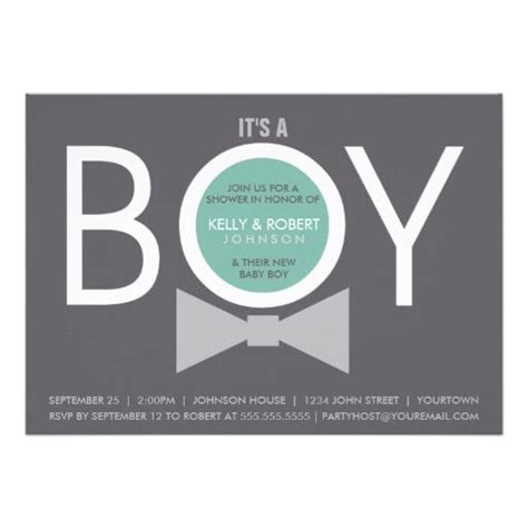 Baby Shower Invitation For Boy by Modern Boy Baby Shower Invitations Baby Shower