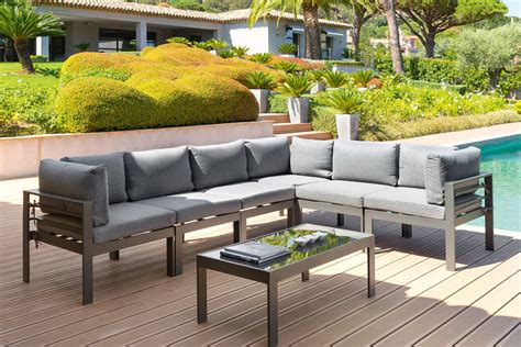 salon de jardin confortable salon de jardin r 233 sine tress 233 e design hesp 233 ride