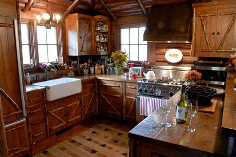 rustic cabin kitchen cabinets kitchen remodeling island images best 25 u shaped kitchen
