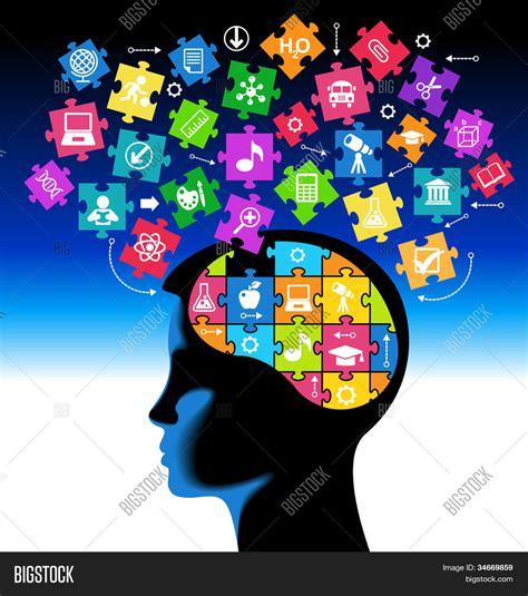the inventive mind the adhd learning model book 1 books vectores y fotos en stock de silueta de la cabeza de una