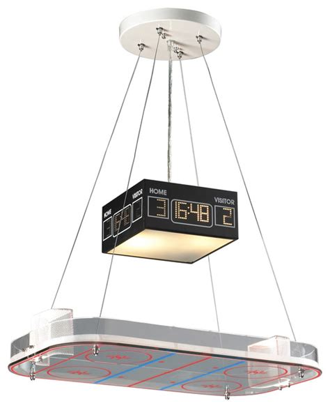 Nhl Scoreboard Light Fixture Hockey Rink Pendant Light Pendant Lighting Chicago By And June