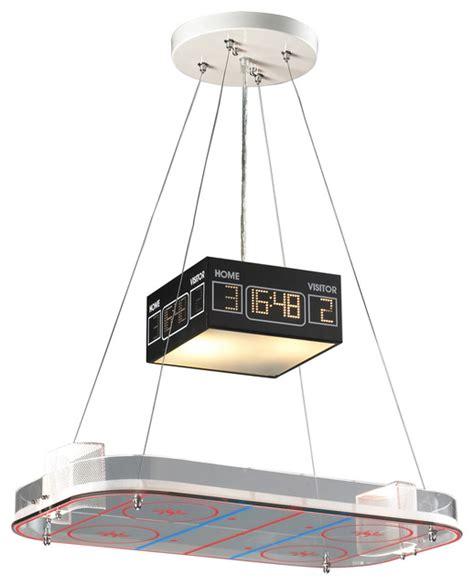 Hockey Rink Pendant Light Pendant Lighting Chicago Nhl Scoreboard Light Fixture