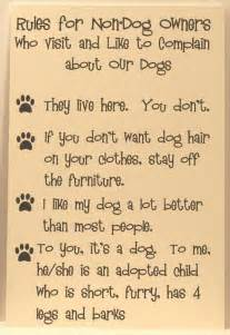 dog house rules dog rules