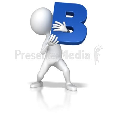 b figures stick figure holding letter b signs and symbols great