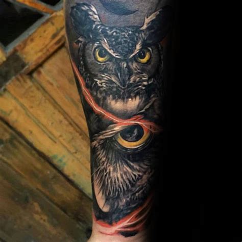 owl arm tattoo tattoos owls elaxsir